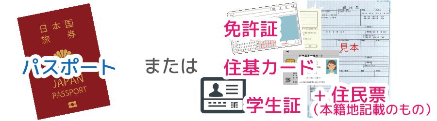 中洲派遣CAの登録時に必要な身分証