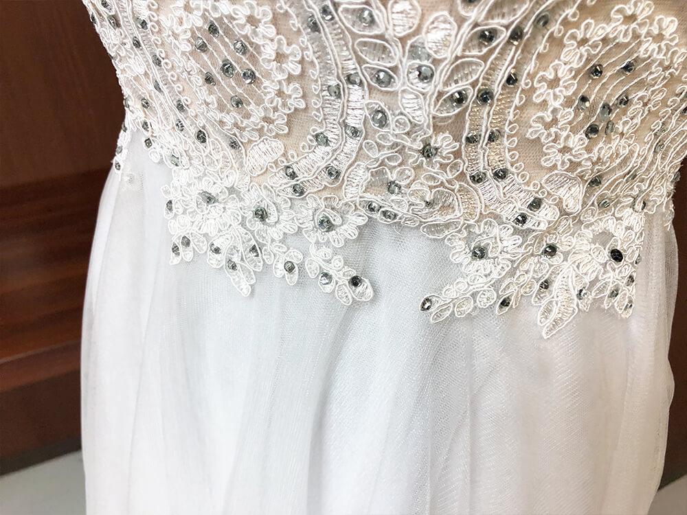純白のドレスアップ画像